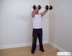 to do this workout you raise the dumbells to shoulder length