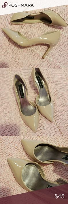 Steve Madden Silvya nude pumps A beautiful pair of nude pumps in great condition 3.5 inch heel pointed toe no scuffs. Steve Madden Shoes Heels