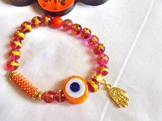 SALE---- AMULET BRACELET - evil eye bracelet -Turkish bracelet -protection bracelet -gypsy bracelet by Nezihe1 on Etsy