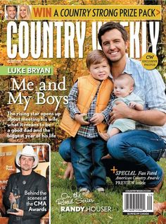 Luke Bryan and Family: Life's Good Things - Country Weekly Country Strong, Country Men, American Country, Country Girls, Country Artists, Country Singers, Country Music, Country Lyrics, Luke Bryan Family