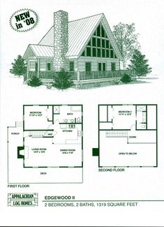 Edgewood II - Appalachian Log & Timber Homes - Rustic Design for Contemporary Living.