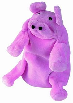 """PIG HAND PUPPET - Plush glove puppet, 8""""."""