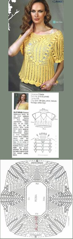 Blouse with its diagrams