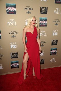Lady Gaga at the American Horror Story: Hotel premiere in LA