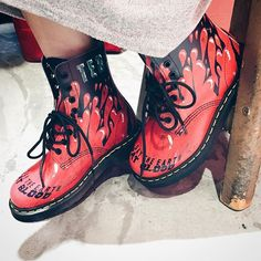 From our Demented Are Go x Dr. Martens collaboration, the Pascal Demented Are Go Boot.