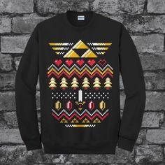 The Legend Of Zelda Art Christmas Design Sweater Sweatshirt Unisex Adults