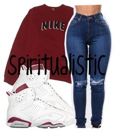 """."" by spiritualistic ❤ liked on Polyvore featuring NIKE"