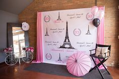 #paris #sweet16 #backdrop #decorations