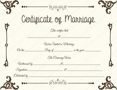 Free Marriage Certificate Template - √ 20 Free Marriage Certificate Template , Create A Marriage Certificate Free original Printable Certificate Format, Wedding Certificate, Printable Certificates, Marriage Certificate, Certificate Design, Certificate Templates, Funny Certificates, Free Printable Menu Template, Free Printables