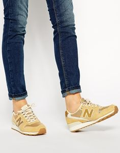 Enlarge New Balance 996 Suede Gold Sneakers