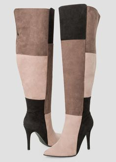 Colorblock Over The Knee Boot - Wide Calf Wide Width