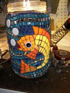 mosaic jar