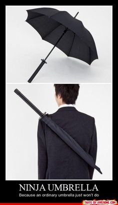 Ninja Umbrella. WANT! O_O