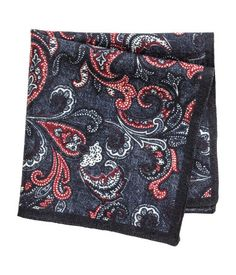 Wool Handkerchief | Dark blue/paisley | Men | H&M US
