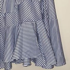 Skirts | Ruffled Skirt | Poshmark Ruffle Skirt, Blossoms, Navy And White, Stripes, Skirts, Outfits, Things To Sell, Tops, Fashion