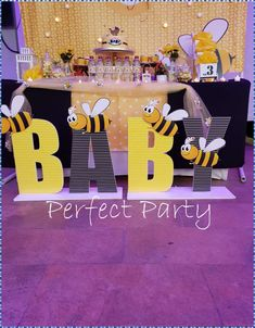 Fareeha W's Baby Shower / Bumble Bees - Photo Gallery at Catch My Party Baby Shower Niño, Shower Party, Baby Shower Parties, Baby Shower Themes, Baby Shower Decorations, Shower Ideas, Party Box, Mommy To Bee, Baby Gender Reveal Party