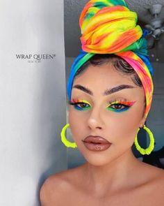 Rainbow Eye Makeup, Colorful Eye Makeup, Bright Eye Makeup, Beautiful Eye Makeup, Cute Makeup, Makeup Tips, Beauty Makeup, Hair Makeup, Sombra Neon