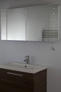 Illuminated Battery Led Bathroom Cabinet Mirror K144