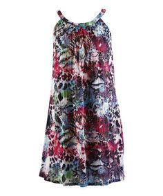 Another great find on #zulily! Carnival Jungle Scoop Neck Dress - Women by Peppermint Bay #zulilyfinds