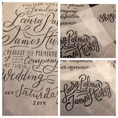 RPS lettering project process | by Kristen Drozdowski and Tori Bernard