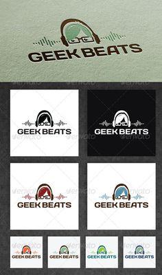 Geek Beats  - Logo Design Template Vector #logotype Download it here: http://graphicriver.net/item/geek-beats-logo/2561549?s_rank=1043?ref=nexion
