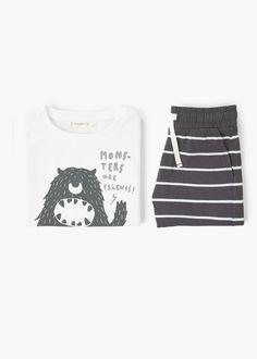 Bedrukte korte pyjama -  Kinderen   MANGO Kids België