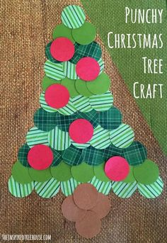 PUNCHY CHRISTMAS TREES --- Beautiful fine motor fun!
