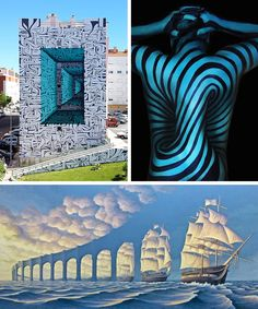 Take a look at how illusion artmanifests itselftoday—from illustrationsto street artto body art.