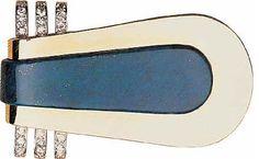 Clip, 1937 Jean FOUQUET Or, lapis-lazuli, diamants Art Deco