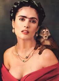 """This is a picture of Salma as her character Frida in the movie """"Frida"""""""
