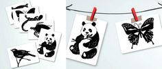"""Montessori Infant - black and white art cards: free download from Bella's Casa. High contrast images are the perfect """"toy"""" for an infant who is learning to concentrate."""