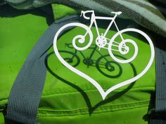 nice window sticker - would love to do this for my friend that just fell in love with biking!!