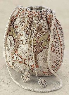 Beautiful crocheted Purse ... Yes it is!