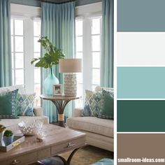 Shades of blue living room