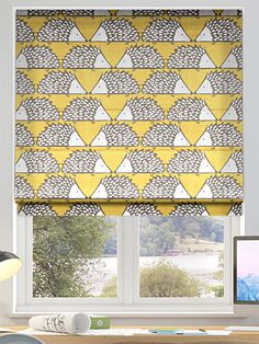 Spike Honey Roman Blind from Blinds Redecorating, New Homes, Roller Blinds, Window Coverings, Roman Blinds, Blackout Blinds, Blinds, Interior Design, Childrens Bedrooms