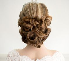 curled bridal updo ~  we ❤ this! moncheribridals.com