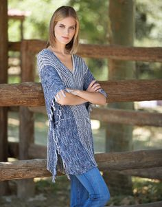 Katia Cotton Vintage and Cotton 100% woman jumper. #BlueJeans Spring · Summer #Colortrend 2015 #KatiaYarns