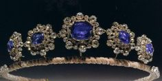 Sapphire Tiara owned by the Duke of Kent. Made from Cambridge family jewels inherited from Queen Mary.