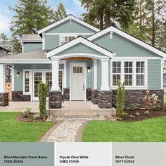 Exterior Paint Colors For House, Paint Colors For Home, Outside House Paint Colors, Cottage Exterior Colors, Siding Colors For Houses, Exterior Paint Ideas, Home Exterior Design, House Ideas Exterior, Home Exteriors