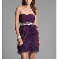 Prom dresses, Feathers and Prom on Pinterest