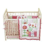 Huge Deal!!  4-Piece Crib Bedding Set.....From drab to fab in a flash! The 180-thread count, 4-Piece Tiny Tillia Crib Bedding Set is 100% U.S. cotton and includes everything you need for the crib. Now on sale for $35!  Available in Pink & Yellow.