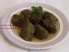 Sarmale cu ciuperci in foi de vita de post Ethnic Recipes, Food, Meal, Essen, Hoods, Meals, Eten