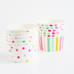 'It's a Party' Ice Cream/Candy Cups in cellophane bag for cupcake