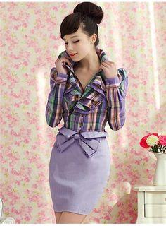Vogue big lady Long Sleeve Shirt $27.40 (Free Shipping) :chicwill.com