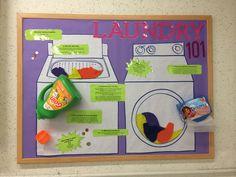 Laundry 101 RA bulletin board