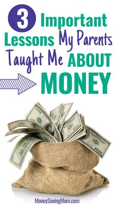 3 Important Lessons My Parents Taught Me About Life & Money – Finance tips, saving money, budgeting planner Debt Free Living, Living On A Budget, Frugal Living Tips, Ways To Save Money, Money Tips, How To Make Money, Literacy Programs, Budget Meal Planning, Money Saving Mom