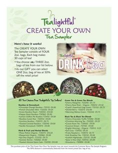 Create your own sampler set. Choose from the most popular teas.