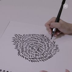 Watch this abstract design unfold drawing art dessin, peinture dessin, art. Abstract Line Art, Abstract Designs, Abstract Sketches, Zantangle Art, Doodle Art, Love Art, Cool Drawings, Amazing Art, Awesome
