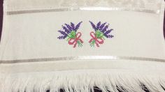 Lavantalı havlu // Towel with lavenders Napkins, Lavender, Towel, Tableware, Dinnerware, Dishes, Napkin, Towels, Lavandula Angustifolia