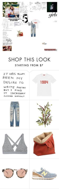 """Something won't always be missing, it won't always feel empty here."" by curious-and-young ❤ liked on Polyvore featuring Gosha Rubchinskiy, R13, Pier 1 Imports, T By Alexander Wang, Caroline De Marchi, Westward Leaning and New Balance"